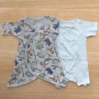 アンパサンド(ampersand)のAmpersand•育児工房 肌着2枚セット 50 60 新生児(肌着/下着)
