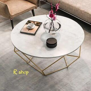 寝室用テーブル .飾り台 ローテーブル センターテーブル 大理石サイドテーブル (ローテーブル)