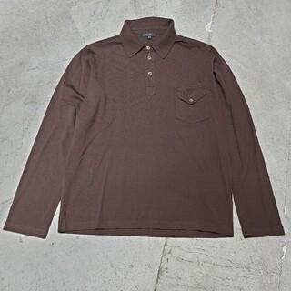 クルチアーニ(Cruciani)のCruciani クルチアーニ ニット ポロシャツ 長袖ポロシャツ ブラウン(ポロシャツ)