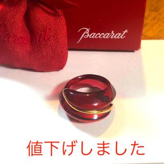 Baccarat - Baccarat  クリスタルリング 14号位