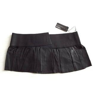 ムルーア(MURUA)の新品 定価4725円 MURUA ムルーア 合革 ペプラム ベルト 黒 (ベルト)