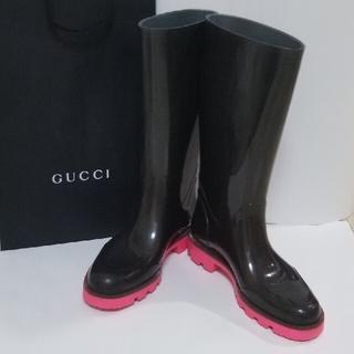 グッチ(Gucci)のGUCCI  GG柄レインブーツ 35 (レインブーツ/長靴)
