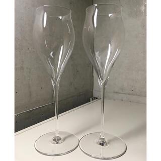 トウヨウササキガラス(東洋佐々木ガラス)のシャンパングラス 掌(たなごころ) 2脚セット 箱無し(グラス/カップ)