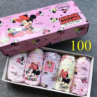 ディズニー(Disney)の100サイズ/5枚/新品 ディズニー/ミニ一マウス/女の子/ショーツ/下着 (下着)