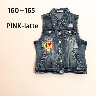PINK-latte - 160〜165 ピンクラテ デニムベスト