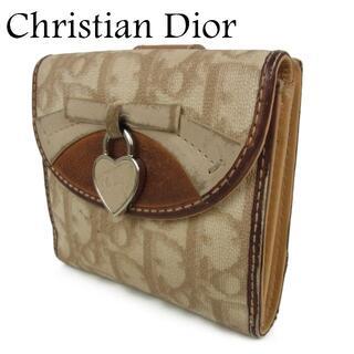 クリスチャンディオール(Christian Dior)のディオール トロッター リボン ハート カデナ Wホック 二つ折り 財布(財布)
