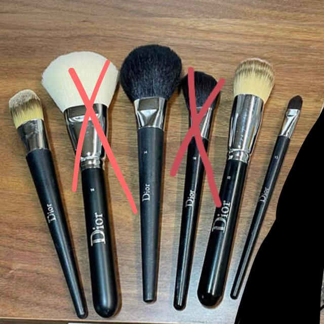 Dior(ディオール)のdior メイクブラシ 4本セット コスメ/美容のキット/セット(コフレ/メイクアップセット)の商品写真