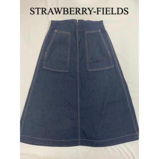 ストロベリーフィールズ(STRAWBERRY-FIELDS)のストロベリーフィールズ/新品/デニム/ロングスカート(ロングスカート)