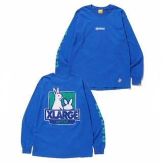 ロンT ブルー XLサイズ スウェット ブラック 黒 XLサイズ(Tシャツ/カットソー(七分/長袖))