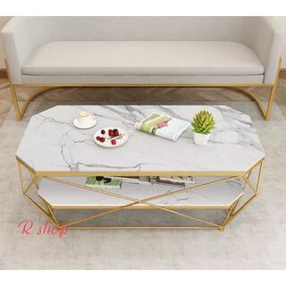 高級大理石ローテーブル センターテーブル テーブル 北欧風サイドテーブル(ローテーブル)