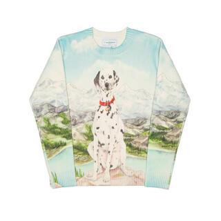 LOEWE - CASABLANCA カサブランカ ニット セーター 犬 ドッグ マルチカラー