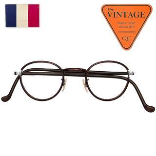 未使用デッドヴィンテージ60sフランス丸メガネセル巻ラウンドフレンチアンティーク(サングラス/メガネ)