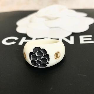 シャネル(CHANEL)の正規品 シャネル 指輪 ココマーク カメリア フラワー ゴールド 花 白 リング(リング(指輪))