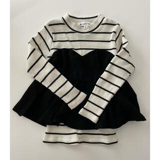 グローバルワーク(GLOBAL WORK)の女の子 カットソー Mサイズ(Tシャツ/カットソー)