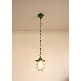 希少カラー!【送料込み】マリンペンダントライト 電球付き グリーン (天井照明)