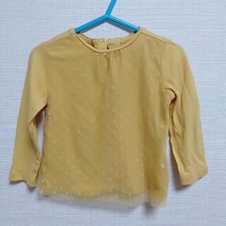 ザラ(ZARA)の1度着用 ザラ 長袖Tシャツ 80 レース 水玉(Tシャツ)