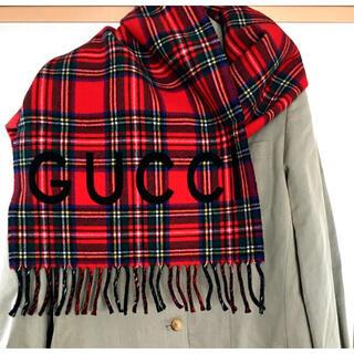 Gucci - GUCCIタータンチェックのマフラー未使用