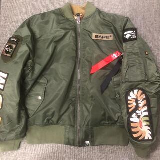 A BATHING APE - BAPE X ALPHA SHARK MA-1 リバーシブルジャケット