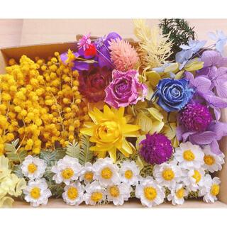 花かんざし ドライミモザ 薔薇ドライフラワー ハーバリウム花材 (ドライフラワー)