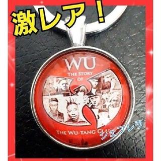 希少品 ★Wu-Tang Clan ロゴ キーホルダー 赤×銀色(キーホルダー)