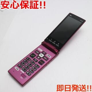 キョウセラ(京セラ)の美品 KYF38 かんたんケータイ ワインレッド (携帯電話本体)