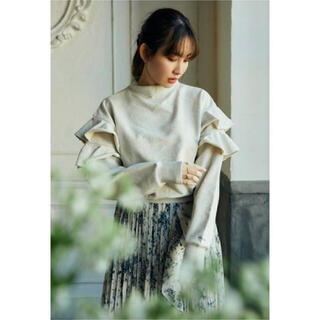 Ruffled Cotton Jersey Sweatshirt(トレーナー/スウェット)