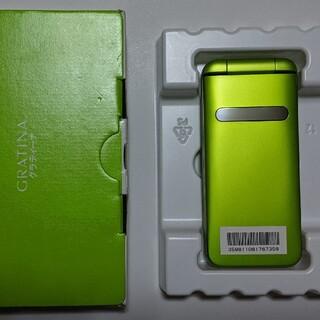 キョウセラ(京セラ)の新品同様品 京セラ GRATINA(KYF37) グリーン (携帯電話本体)