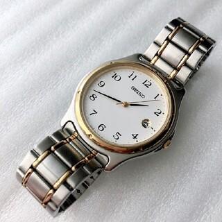 セイコー(SEIKO)のSEIKO メンズクォーツ腕時計 稼動品 白文字盤(腕時計(アナログ))