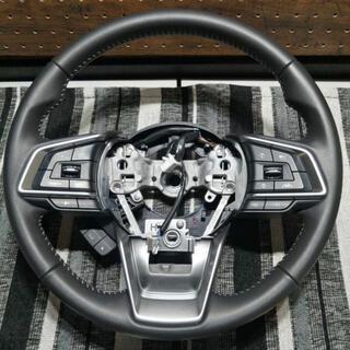 スバル - SUBARU 純正 本革 ステアリング ステアリングリモコン 新車外し