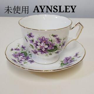 エインズレイ(Aynsley China)の未使用 エインズレイ AYNSLEY バイオレット カップ ソーサー OJ089(グラス/カップ)