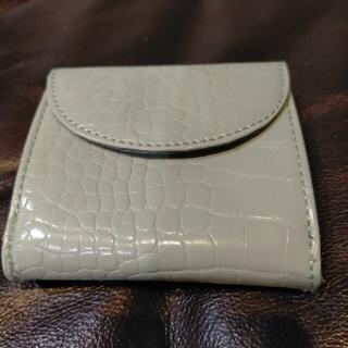 ジーユー(GU)の新品 未使用 GU ジーユー クロコ グリーン 二つ折り 財布(財布)