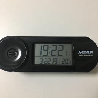 セイコー(SEIKO)のRAIDEN(ライデン)大音量デジタル電波目覚まし時計(黒)  NR532K(置時計)