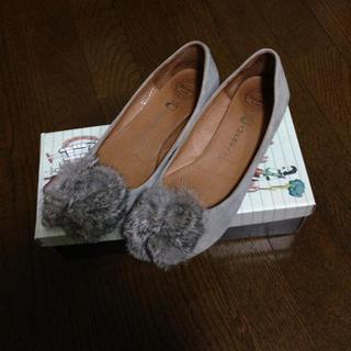 ジェフリーキャンベル(JEFFREY CAMPBELL)のジェフリーキャンベル♡ファー付き(ローファー/革靴)