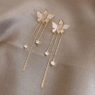 スタージュエリー(STAR JEWELRY)のbutterflies chain pierce ◯s925 post(ピアス)