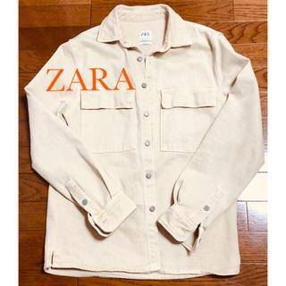 ZARA - ❤︎ZARA men's❤︎ベージュ デニムジャケット❤︎サイズL❤︎