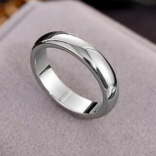 ツヤリング ステンレスリング ステンレス指輪  ピンキーリング シルバー(リング(指輪))