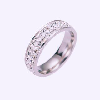 2連 ステンレスリング  ステンレス指輪 ピンキーリング(リング(指輪))