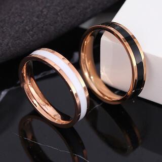 ペアリング ローズゴールド ステンレスリング ステンレス指輪 ピンキーリング(リング(指輪))