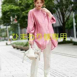 ドゥドゥ(DouDou)のDOUDOU BIGシアードレスシャツ ピンク(シャツ/ブラウス(長袖/七分))