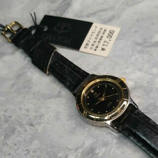 CHATOM腕時計 天然ダイヤモンド入り(腕時計)