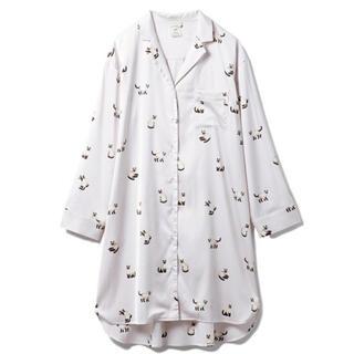 gelato pique - シャムネコサテンシャツドレス ジェラートピケ ワンピース  ピンク