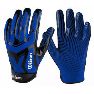 ウィルソン(wilson)のアメフト Wilson ウィルソン ブルー グローブ XLサイズ【新品】(アメリカンフットボール)