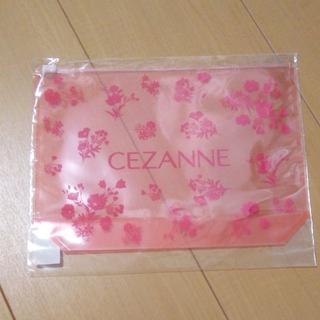 セザンヌケショウヒン(CEZANNE(セザンヌ化粧品))のCEZANNE セザンヌ ビニールポーチ 新品未使用未開封(ショップ袋)