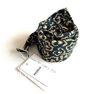 ムルーア(MURUA)の新品 MURUA フラワーレオパードスカーフ 完売品(バンダナ/スカーフ)