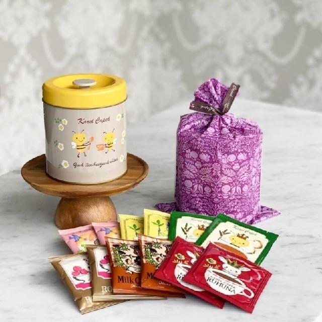 カレルチャペック紅茶店☆ティーキャニスター缶 バジー 食品/飲料/酒の飲料(茶)の商品写真