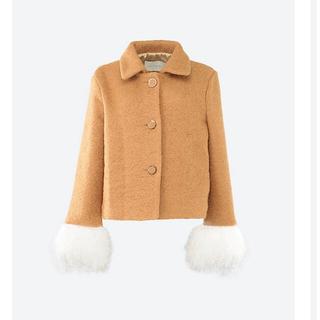 ベリーブレイン(Verybrain)のthe virgins tweed feather cuff jacket(毛皮/ファーコート)