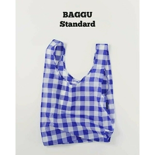 EDIT.FOR LULU - BAGGU baguu エコバッグ スタンダード ビッグ チェック ブルー
