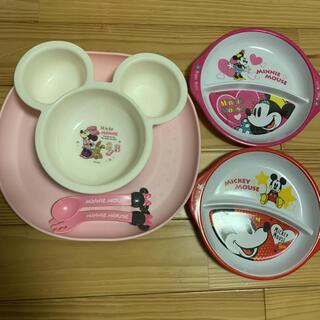 ディズニー(Disney)のミニーミッキー食器セット(離乳食器セット)