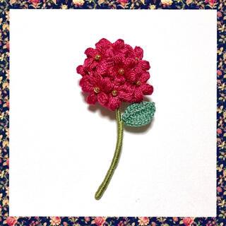 フラワーブローチ*一輪の花〜ルビー(コサージュ/ブローチ)