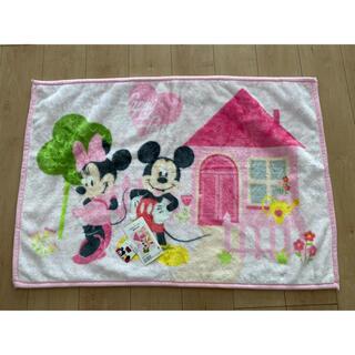 ディズニー(Disney)のミッキー ミニー 膝掛け 毛布 70×100(毛布)